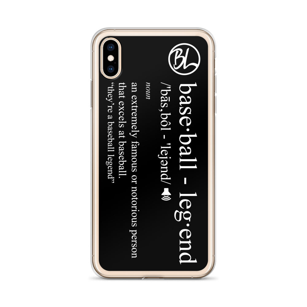 Definition iPhone Case - Baseball Legend Apparel