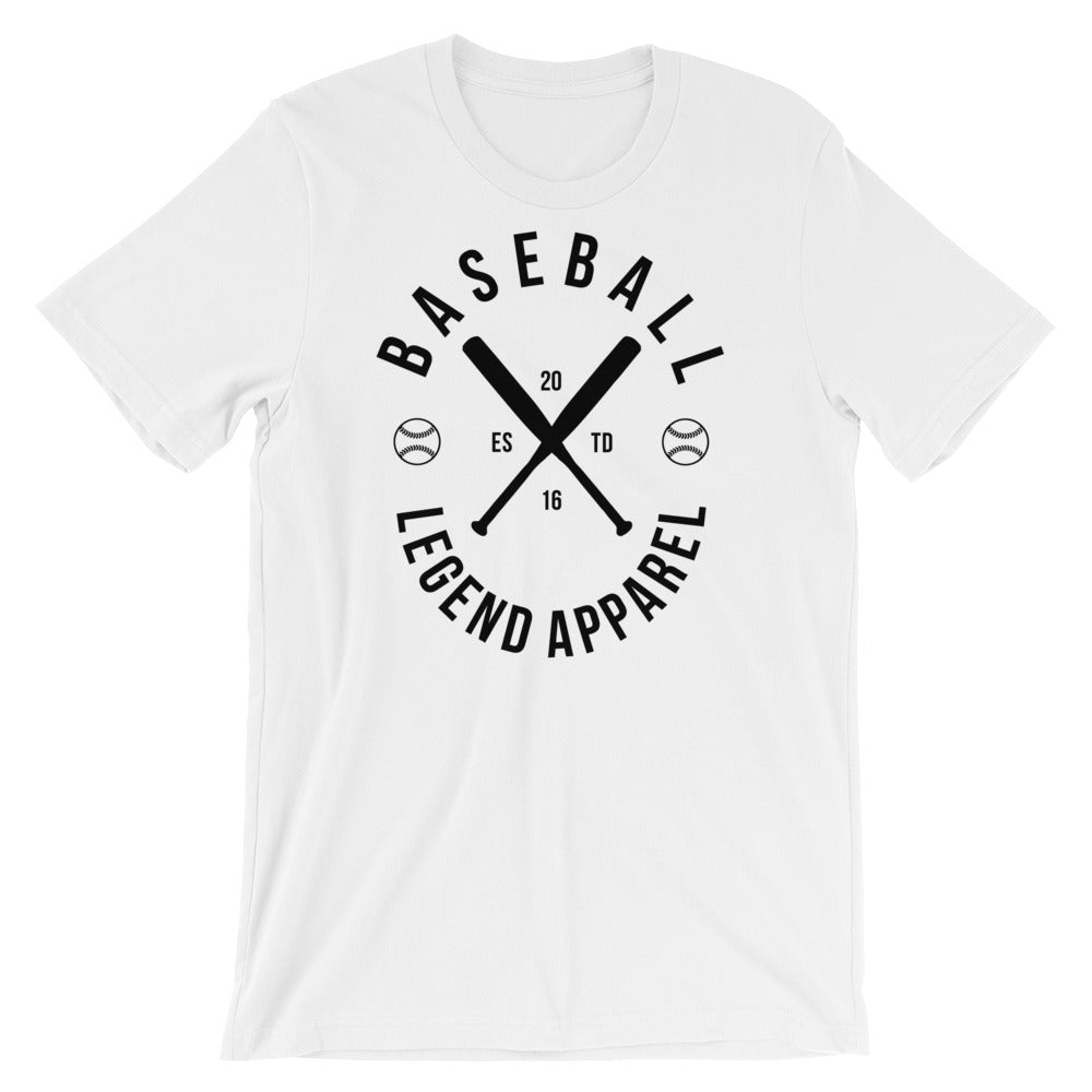 White Brand Tee - Baseball Legend Apparel