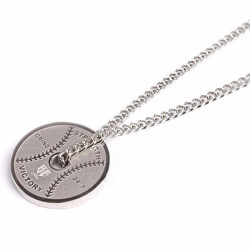 Stainless Weight Plate Pendant and Chain - Baseball Legend Apparel