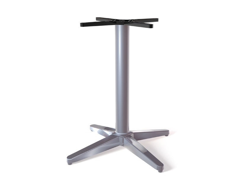 The No Rock Trail Metallic Silver Table Base Classic Criss Cross Style Base 27