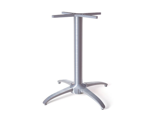 No Rock Table Base Metallic Silver Classic Cross Style Base  27