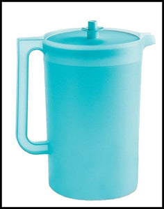 Tupperware Large One Gallon Pitcher with Push Button Seal White w// Flowers New