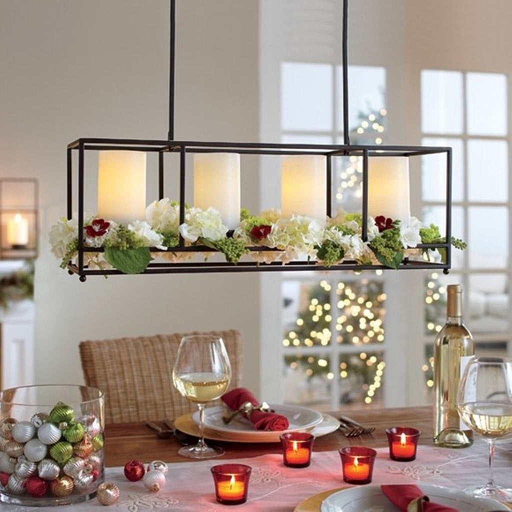 Partylite Framework Chandelier Long Hanging Centerpiece Candle Holde Plastic Glass And Wax Pgw