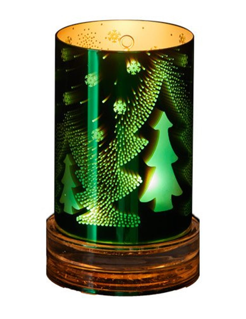 Partylite Illusions Christmas Tree Hurricane Candle Holder Sleeve W T Plastic Glass And Wax Pgw