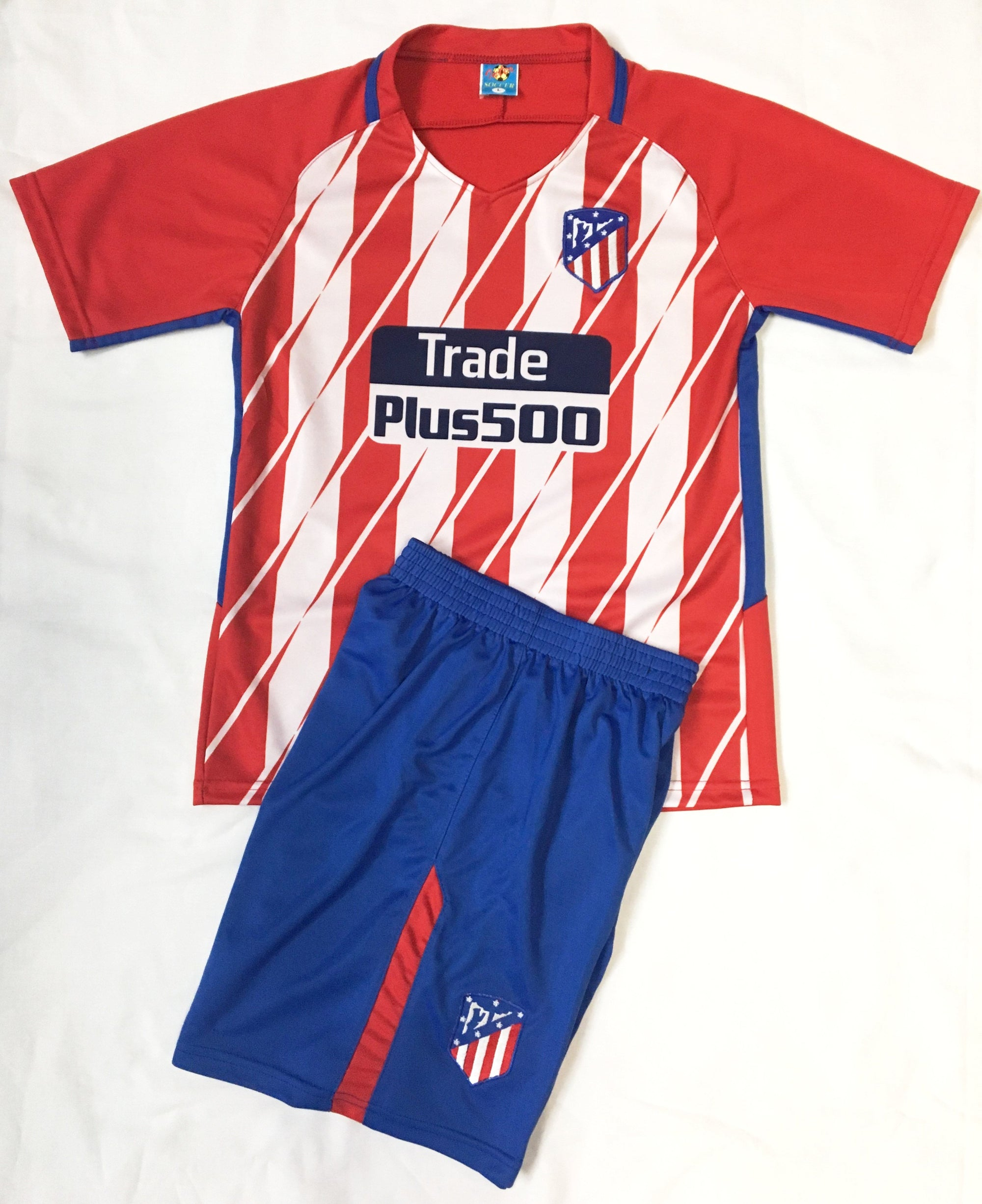 ATLETICO MADRID 2017/18 HOME KIDS 2-PIECE SOCCER SET