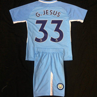 MANCHESTER CITY HOME 2017/18 KIDS 2-PIECE SOCCER SET