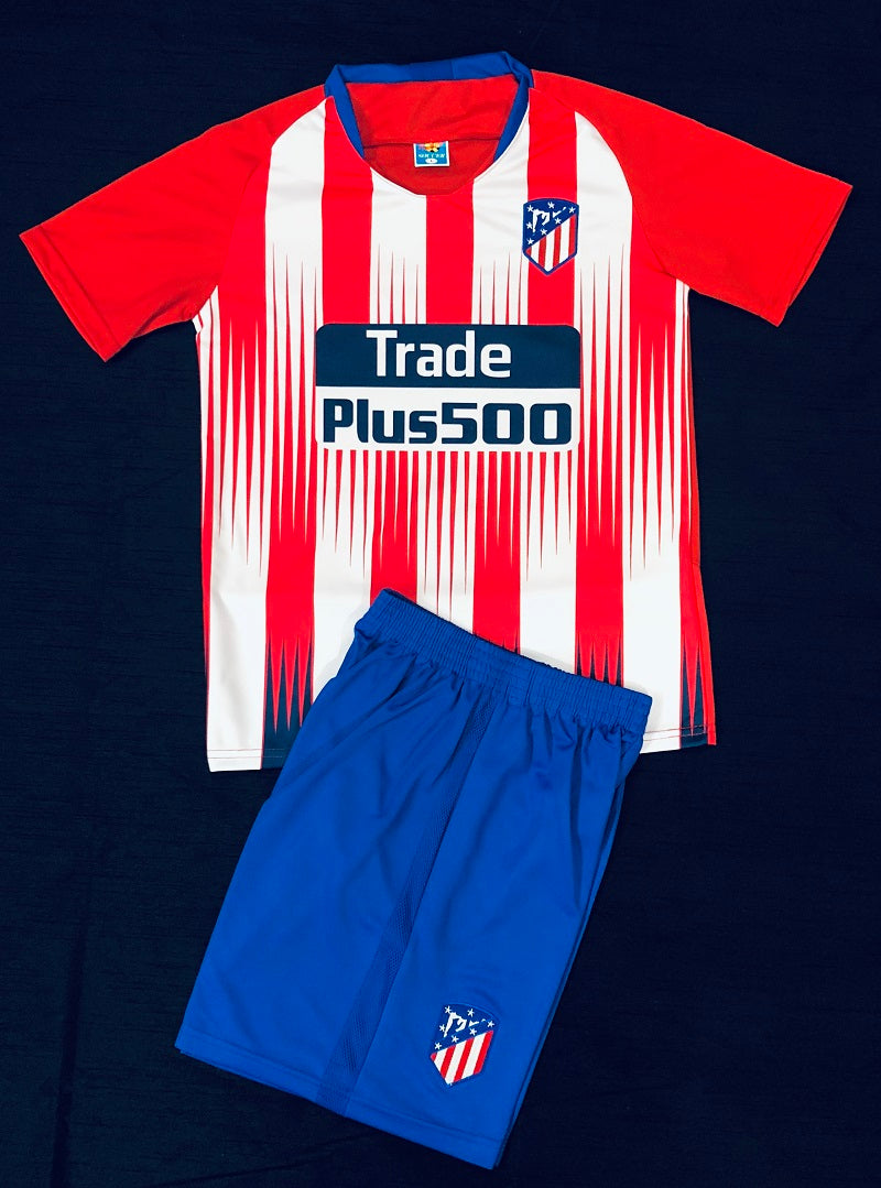 ATLETICO MADRID HOME 2018/19 KIDS 2-PIECE SOCCER SET