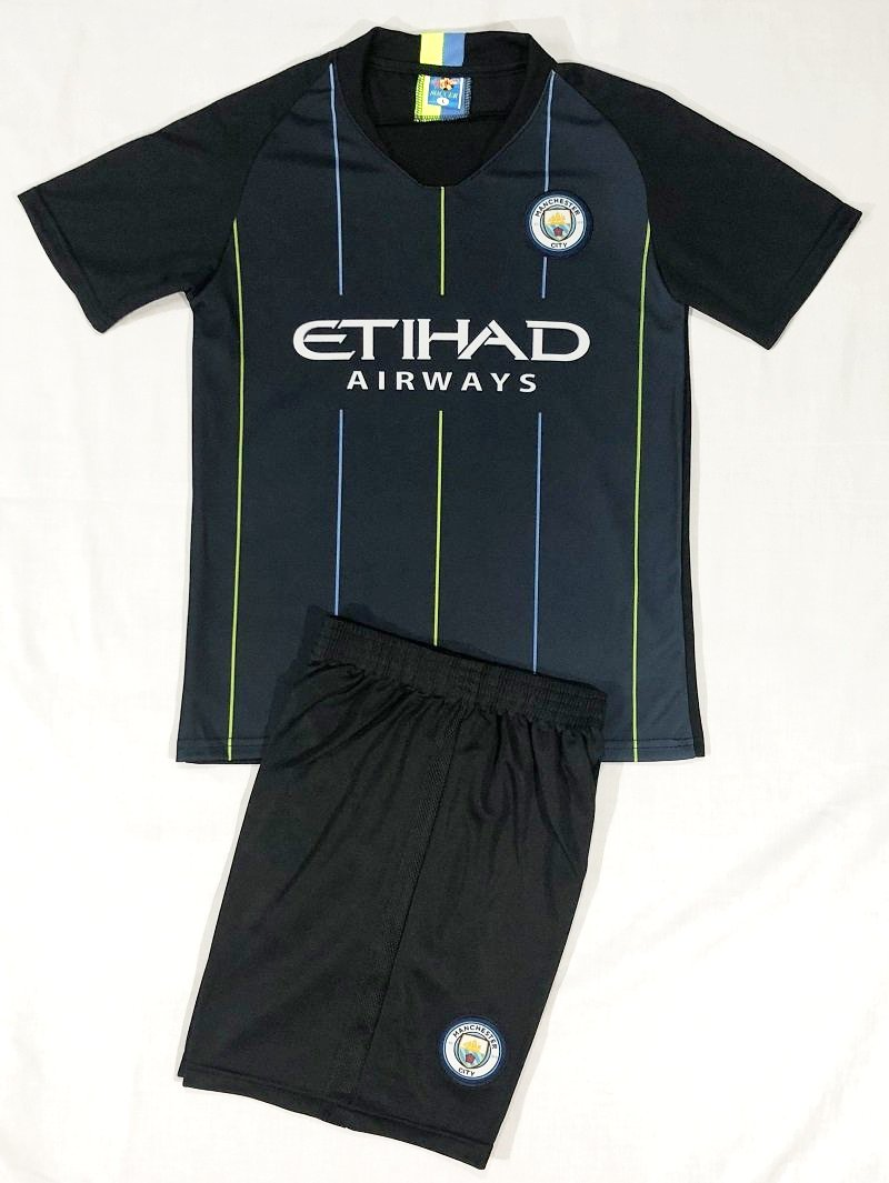 MANCHESTER CITY AWAY 2018/19 KIDS 2-PIECE SOCCER SET