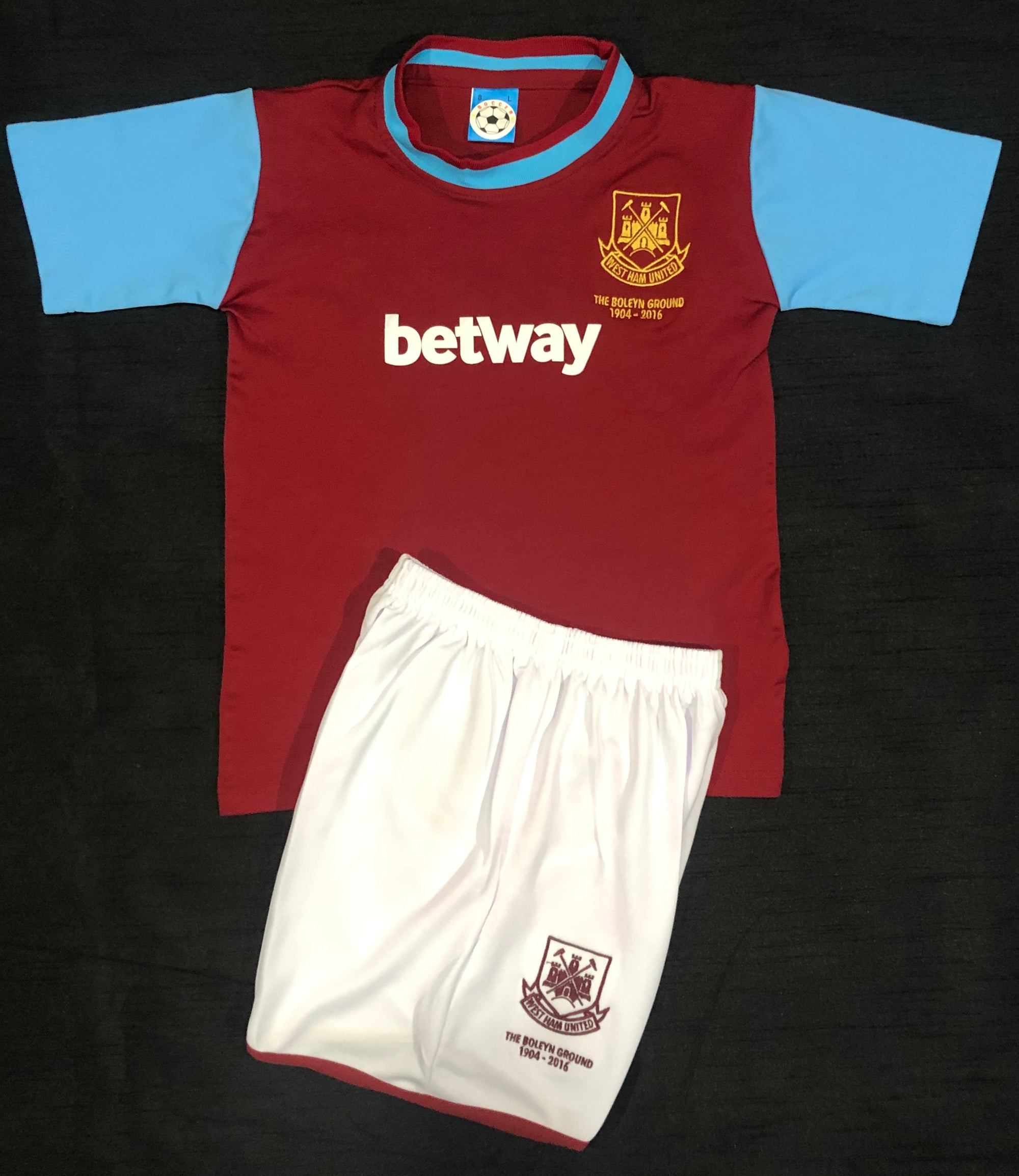 WEST HAM HOME 2015/16 KIDS 2-PIECE SOCCER SET