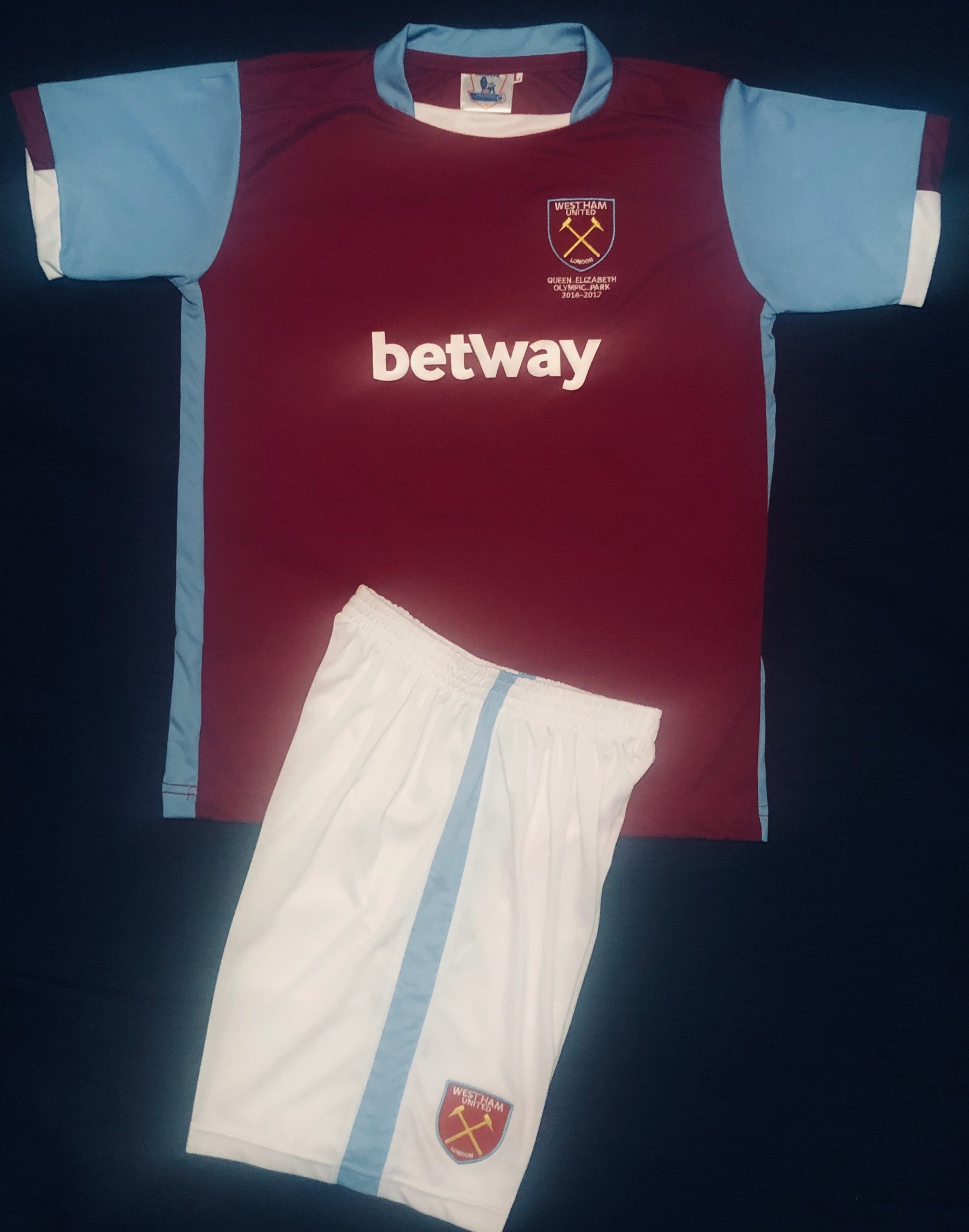WEST HAM HOME 2016/17 KIDS 2-PIECE SOCCER SET