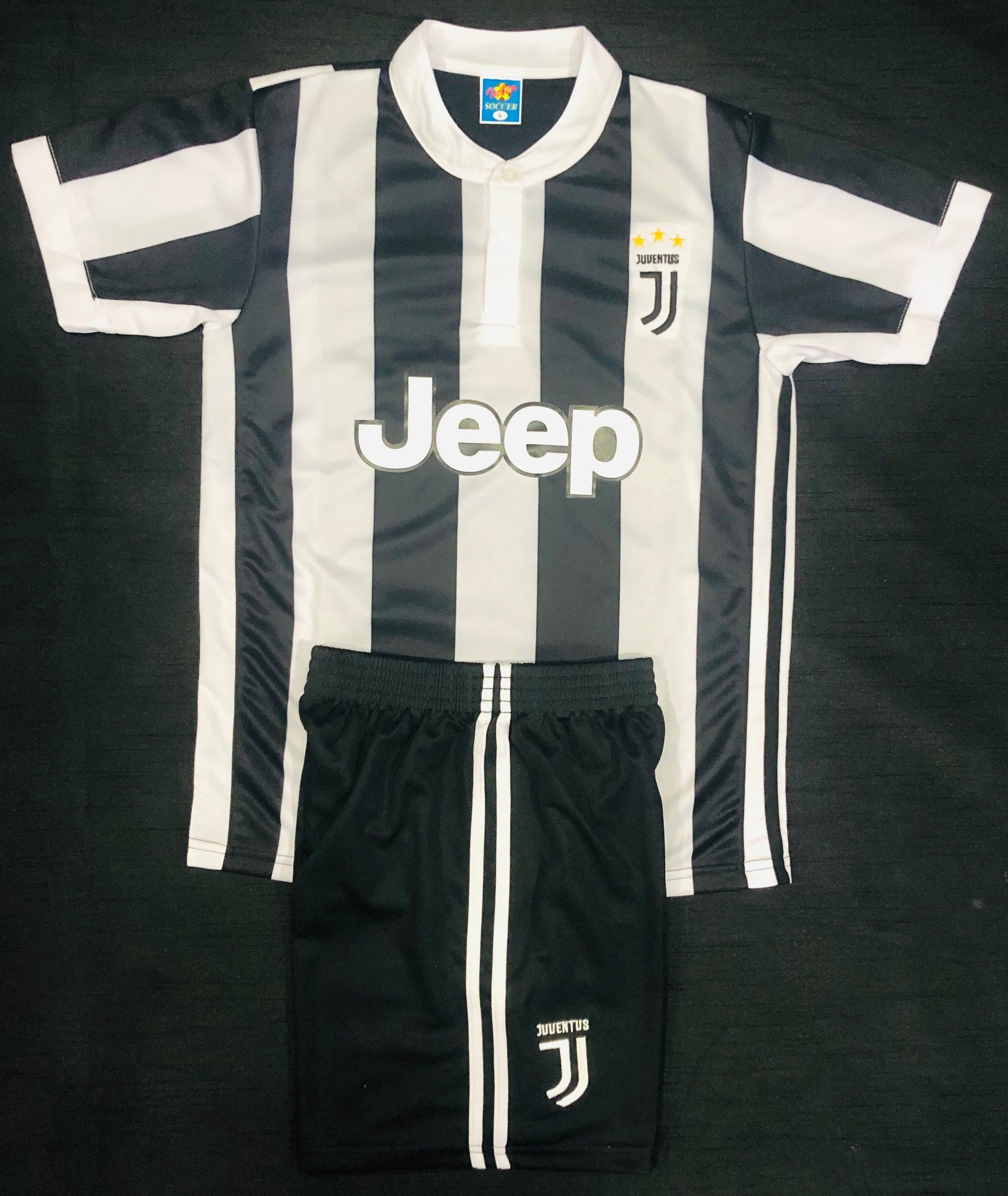 JUVENTUS HOME 2017/18 KIDS 2-PIECE SOCCER SET