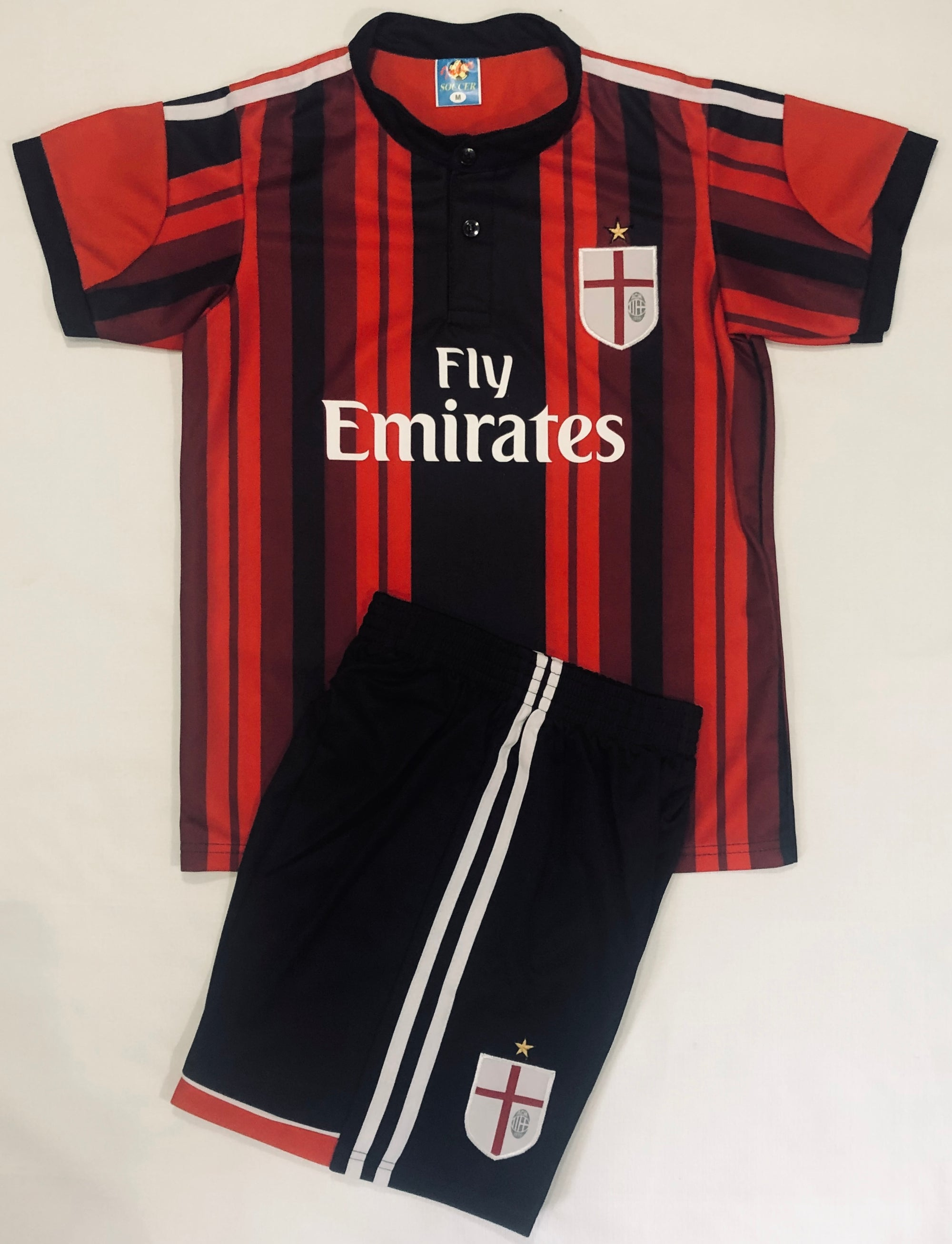 AC MILAN HOME 2014/15 KIDS 2-PIECE SOCCER SET