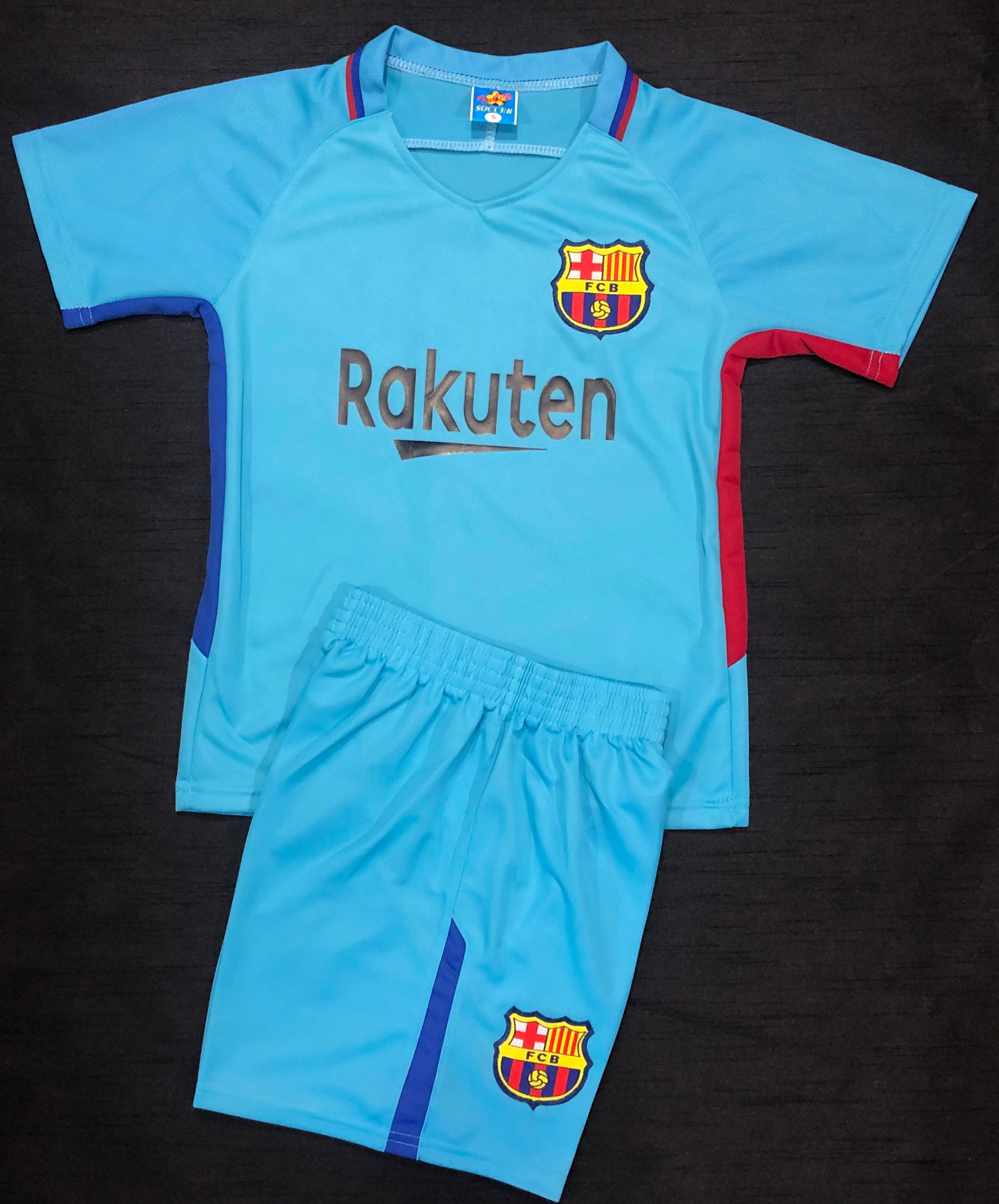 BARCELONA AWAY 2017/18 KIDS 2-PIECE SOCCER SET
