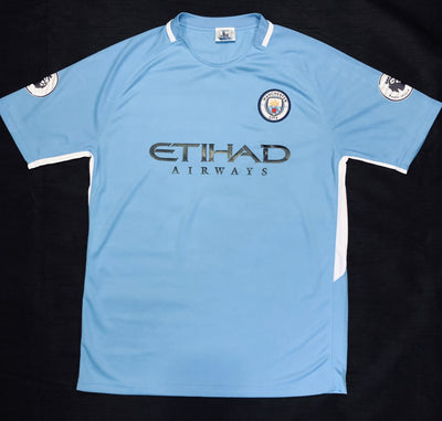 Manchester City Home 2017/18 Adult Shirt ~ Replica Version