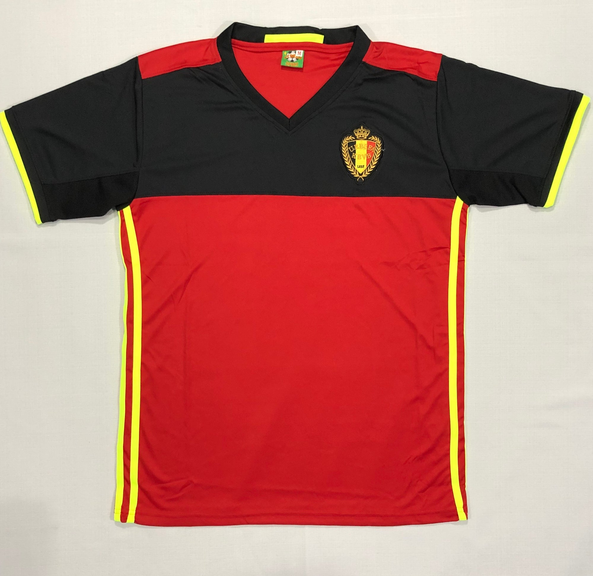 Belgium Home Euro16 Adult Shirt ~ Replica Version