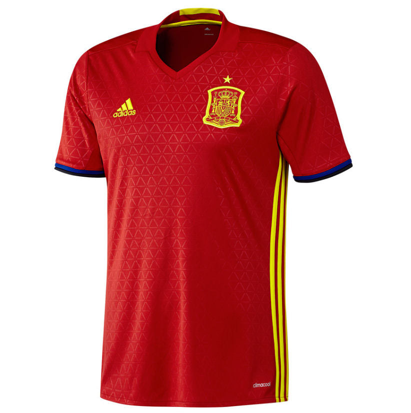 Spain Home Shirt Euro16 Official Adidas