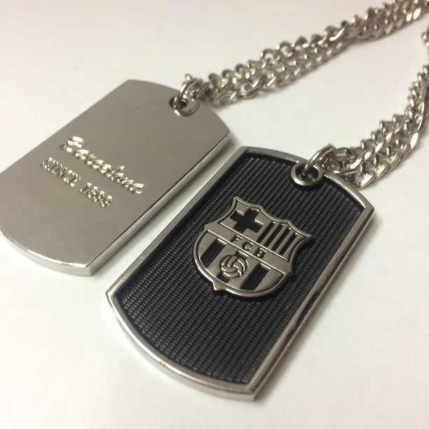 Barcelona Dog Tag Necklace