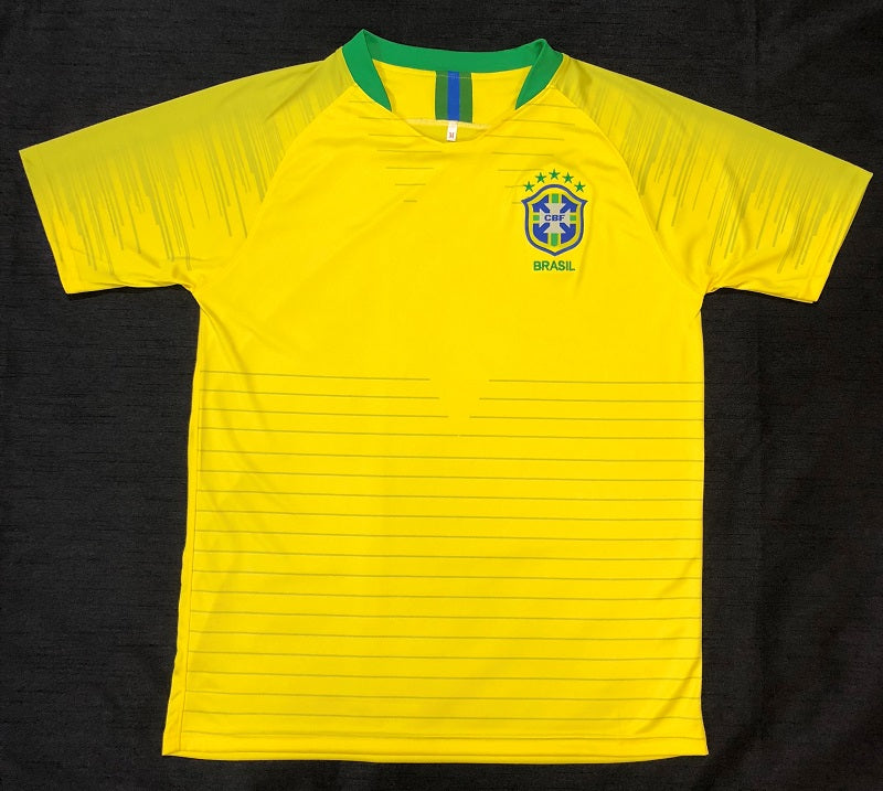 Brazil Home WC2018 Adult Shirt ~ Replica Version