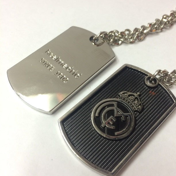 Real Madrid Dog Tag Necklace