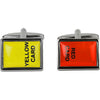 Red/Yellow Card Cufflinks