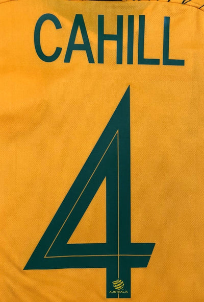 """CAHILL 4"" Socceroo World Cup 2018 REPLICA Adult Home Shirt"
