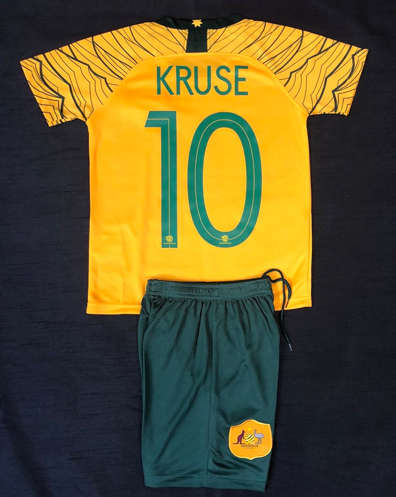 """KRUSE 10"" SOCCEROO HOME WORLD CUP 2018 KIDS 2-PIECE SOCCER SET"