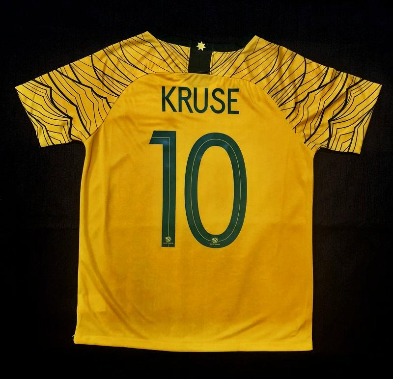 """KRUSE 10"" Socceroo World Cup 2018 REPLICA Adult Home Shirt"