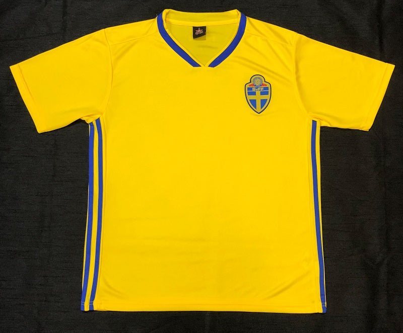 ae17892df Sweden World Cup 2018 Home Shirt ~ Replica Version - Soccer Central