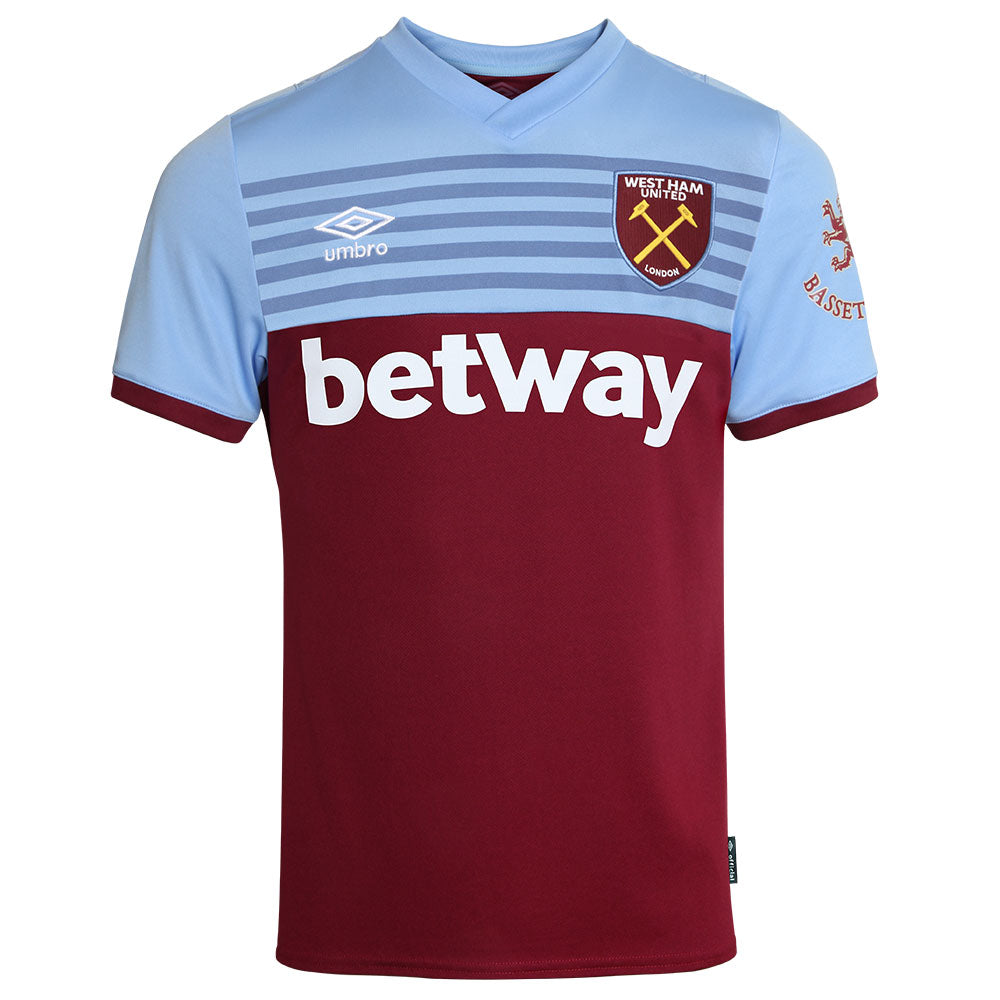 West Ham Home 2019/20 Adult Shirt ~ Official Umbro