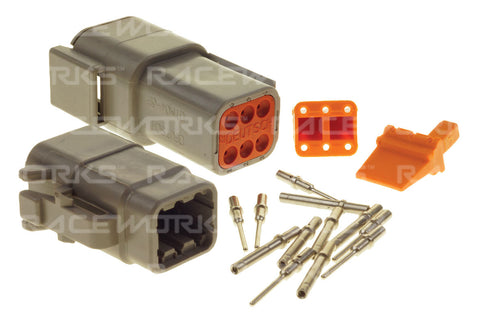 RACEWORKS DEUTSCH DTM 6-WAY CONNECTOR KIT - Quickbitz
