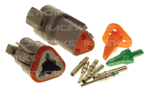 RACEWORKS DEUTSCH DT 3-WAY CONNECTOR KIT - Quickbitz