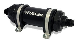 Black Fuelab fuel filter with twin brackets