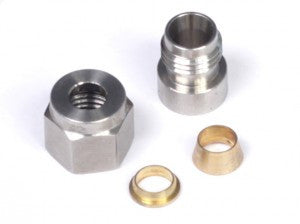 "1/4"" Stainless Steel Weld-on Kit - inc Nut and Ferrule - Quickbitz"