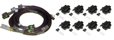 8 Channel Individual High Output IGN1A IGBT Inductive Coil & Harness Kit - Suits Big Block/Small Block GM/Chrysler Hemi V8