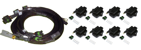 8 Channel Individual High Output IGN1A IGBT Inductive Coil & Harness ECU Kit - Suits Big Block/Small Block Ford V8