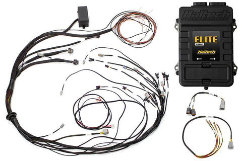 Elite 1500 with RACE FUNCTIONS - Mazda 13B S6-8 Terminated Harness ECU Kit Suits Square Bosch EV1 injector connectors - Includes Engine Harness, & Fuse Block. Includes flying lead ignition harness.