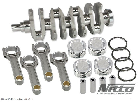 4G63 2.2L STROKER KIT (I-BEAM RODS / 86.0MM BORE) - Quickbitz