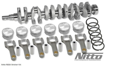RB26 2.7L STROKER KIT EX DUTY (I-BEAM RODS / 86.5MM BORE) - Quickbitz
