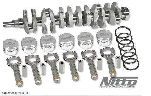 RB30 SOHC 3.2L STROKER KIT (I-BEAM RODS / 86.5MM BORE) - Quickbitz