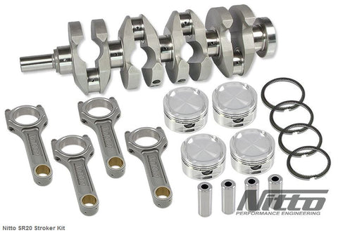 SR20 2.2L STROKER KIT (H-BEAM RODS / 87.0MM BORE) - Quickbitz