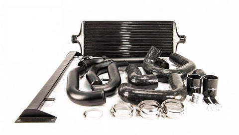 Process West Front Mount Intercooler Kit (suits Subaru 08-14 GRB WRX) - Black