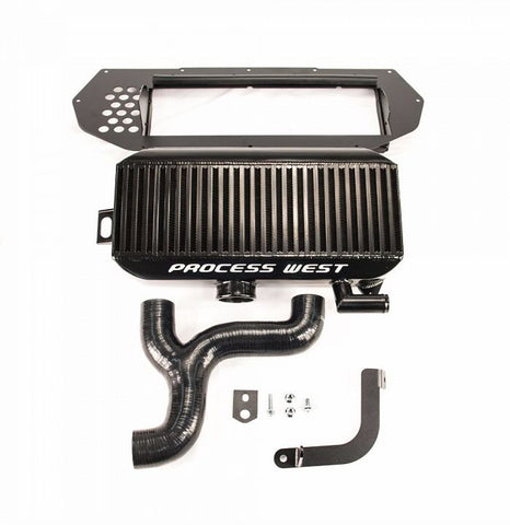 Process West Top Mount Intercooler (suits Subaru 97-98 GC8 WRX/STI) - Black
