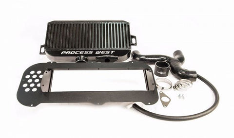 Process West Top Mount Intercooler Kit (suits Subaru 04-07 Forester XT) - Black
