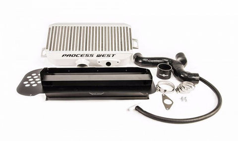 Process West Top Mount Intercooler Kit (suits Subaru 04-07 Forester XT) (with 02 STI Bonnet Scoop) - Silver