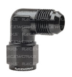 RACEWORKS FEMALE TO MALE SWIVEL ELBOW 90 Deg STAINLESS STEEL - Quickbitz