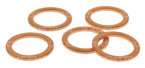 RACEWORKS COPPER WASHERS ID16mm OD22mm T1.5mm 5pk - Quickbitz