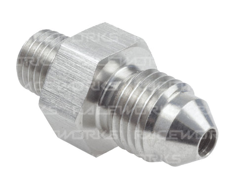 RACEWORKS NPT MALE 1/8'' TO MALE FLARE AN-3 STAINLESS STEEL - Quickbitz