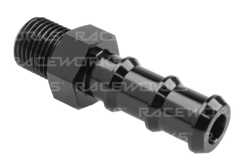RACEWORKS METRIC MALE M10x1.0 TO 3/8'' BARB - Quickbitz