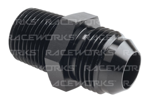 RACEWORKS AN-10 MALE FLARE TO NPT 1/2'' STRAIGHT - Quickbitz