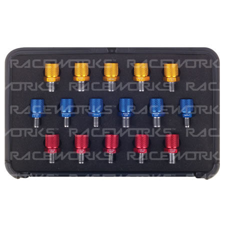 PRODUCT NO LONGER AVAILABLE! - RACEWORKS THREAD IDENTIFICATION KIT, 16 SIZES